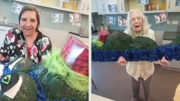 Manchester care home make their very own Loch Ness Monster for Burns Night